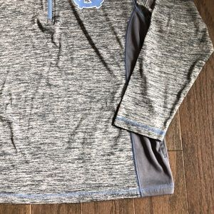 Russell Athletic Shirts - UNC Tar Heels LS Quarter Zip Pull Over Shirt